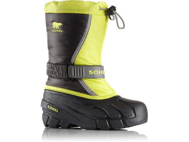 Sorel Flurry Boots Kids dark grey/warning yellow